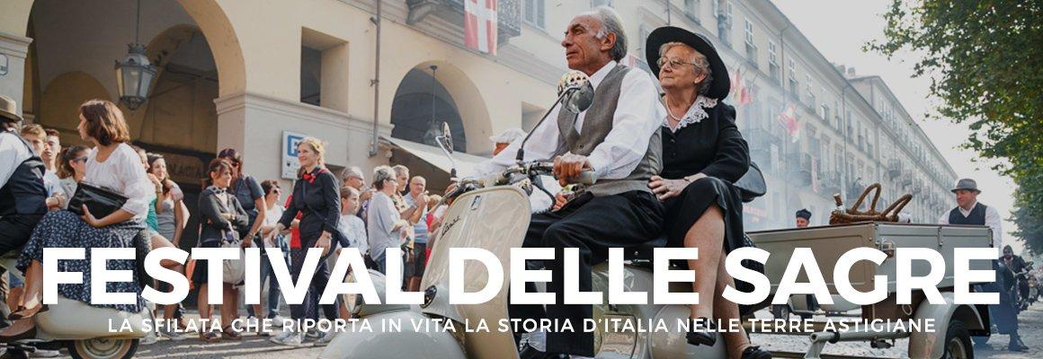 """Copertina """"FESTIVAL DELLE SAGRE – LA SFILATA CHE RIPORTA IN VITA LA STORIA D'ITALIA NELLE TERRE ASTIGIANE"""""""