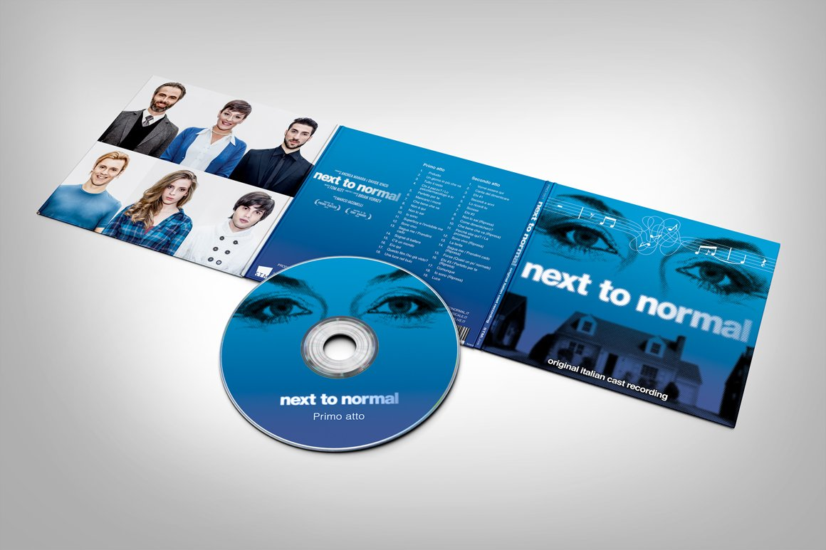 Il Digipack per il CD di Next To Normal – Italia realizzato da Gaetano Cessati