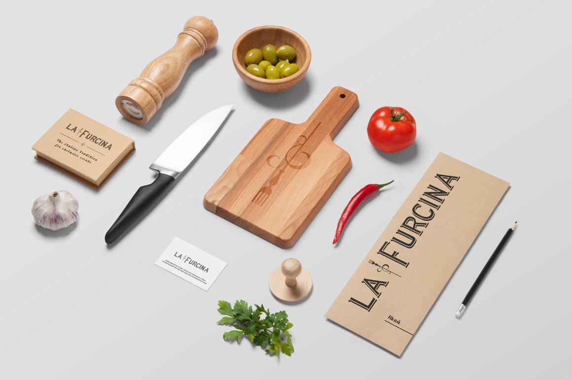Immagine coordinata per l'azienda di catering La Furcina