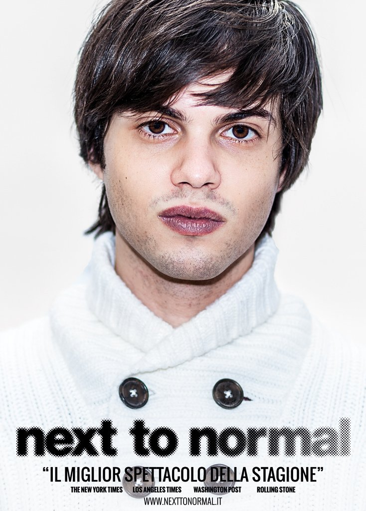Next To Normal – Italia. Poster di Henry interpretato da Renato Giuseppe Crudo