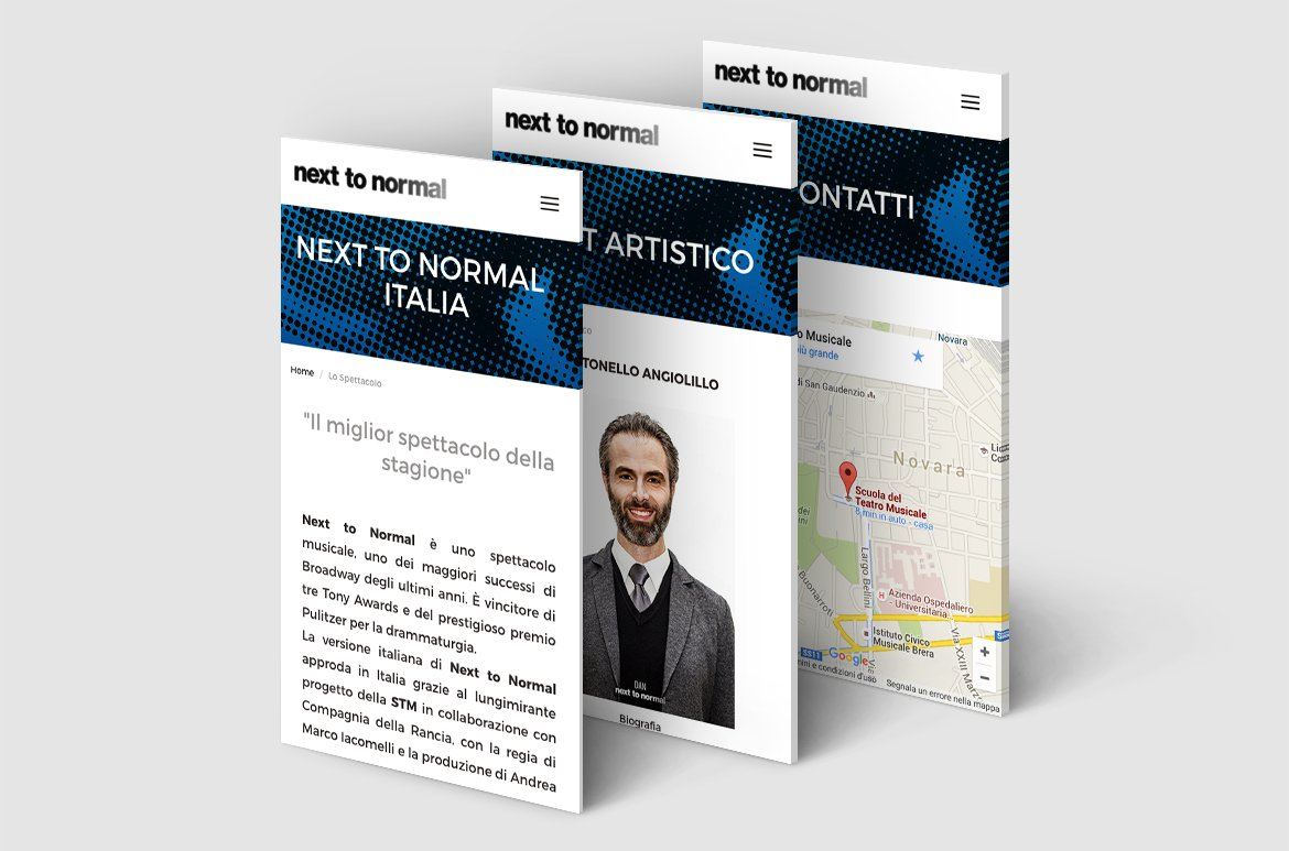 Next To Normal – Italia. Presentazione del sito web nexttonormal.it