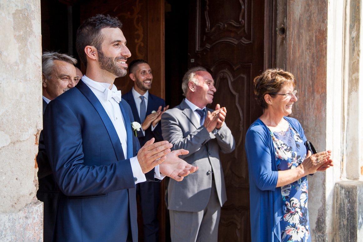 Servizio fotografico di matrimonio. Lo Sposo