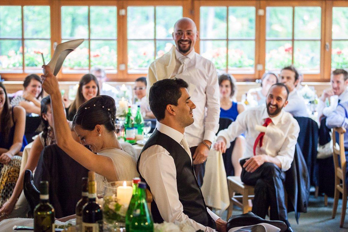 Servizio fotografico di matrimonio. Il ricevimento