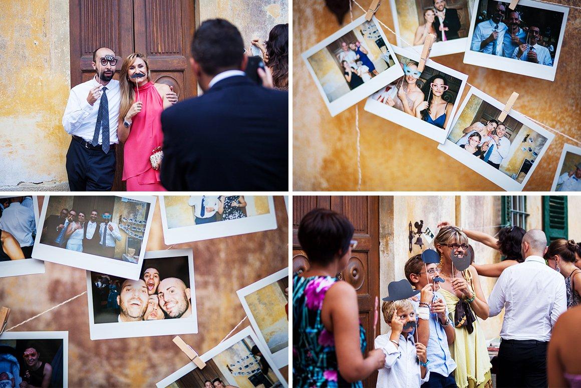Servizio fotografico di matrimonio. Photobooth