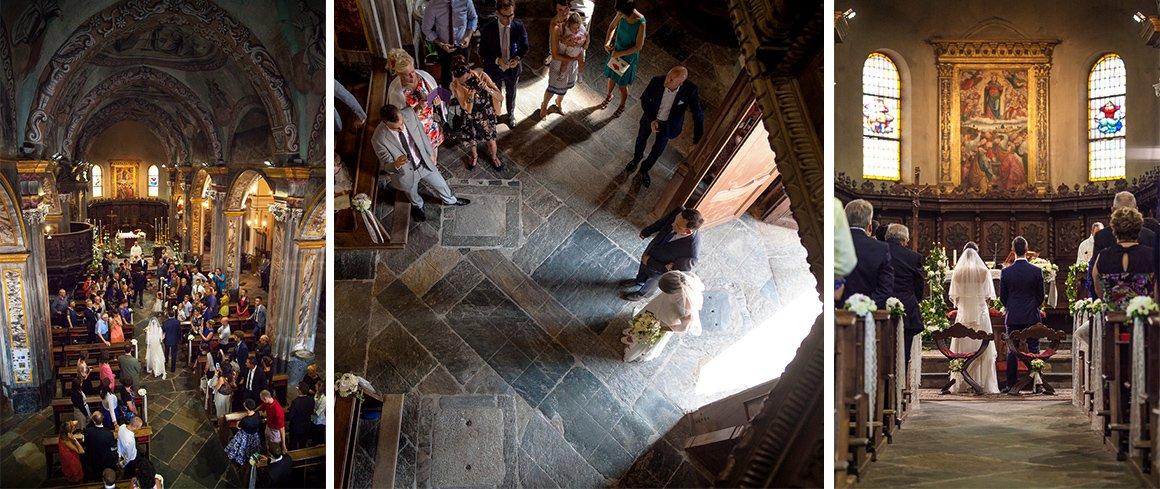 Servizio fotografico di matrimonio. Cerimonia in chiesa