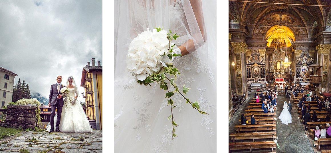 Servizio fotografico di matrimonio. La sposa