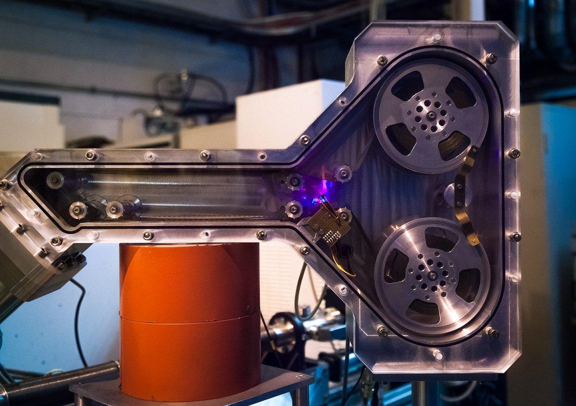 Dettaglio di uno dei macchinari all'interno di ISOLDE
