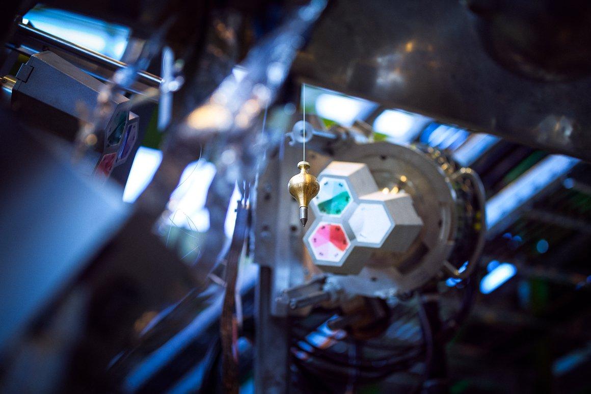 Dettaglio di un esperimento all'interno del complesso ISOLDE