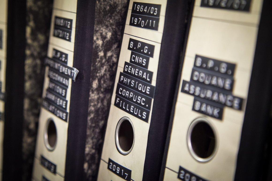 Dettaglio degli archivi del CERN
