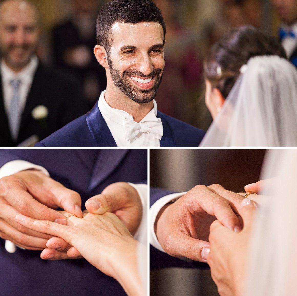 Servizio fotografico di matrimonio. La cerimonia, gli anelli