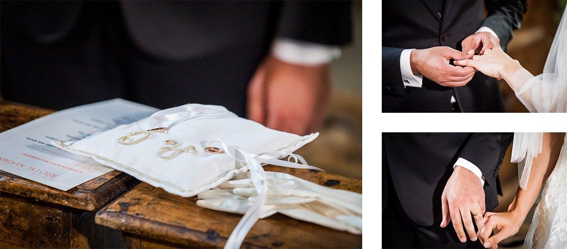 Servizio fotografico di matrimonio. Le fedi