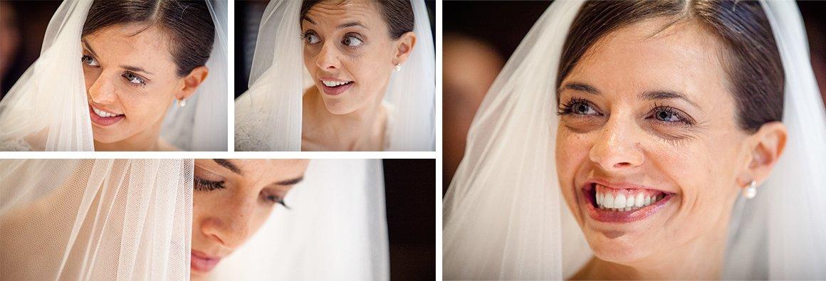 Servizio fotografico di matrimonio. Serie di ritratti per la sposa
