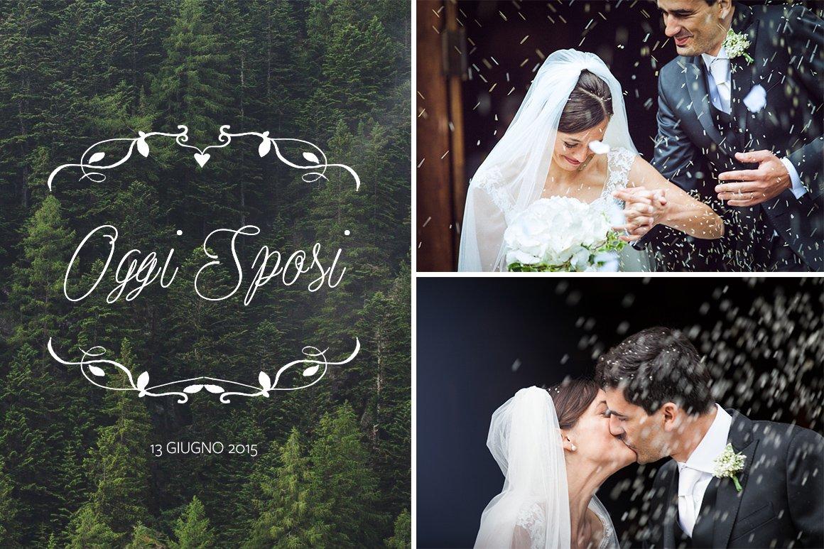 Servizio fotografico di matrimonio. Oggi sposi