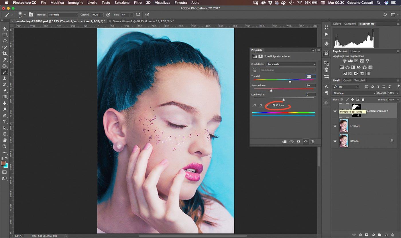 10 Come cambiare colore ai capelli con Photoshop - colorare i capelli