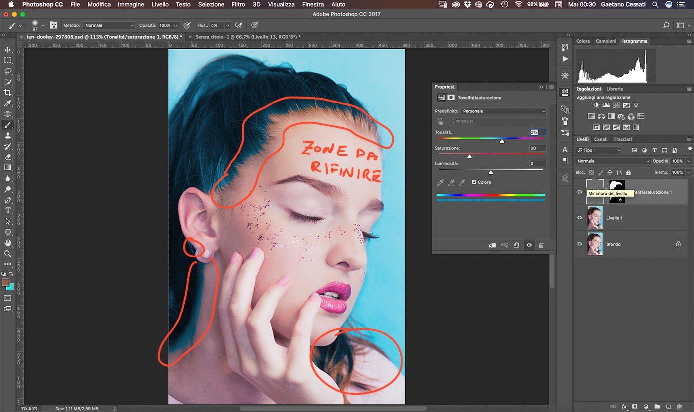 11 Come cambiare colore ai capelli con Photoshop - colorare i capelli