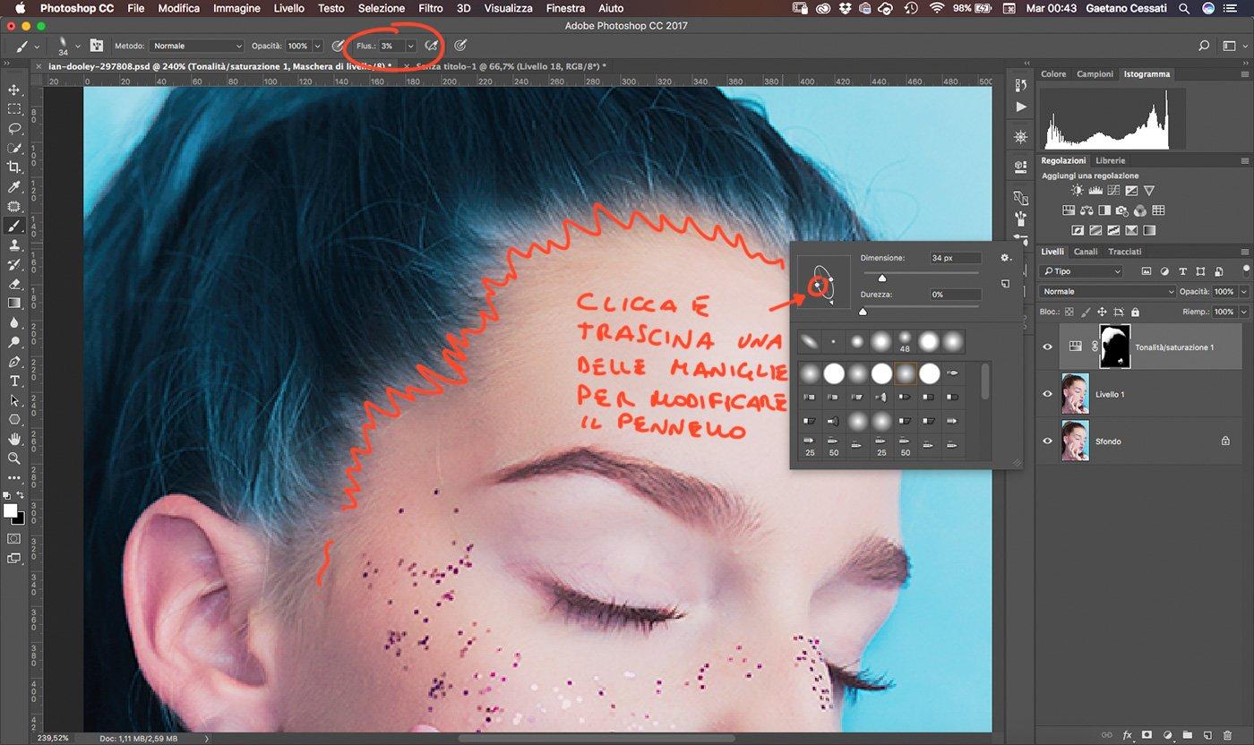 13 Come cambiare colore ai capelli con Photoshop - rifinire capelli