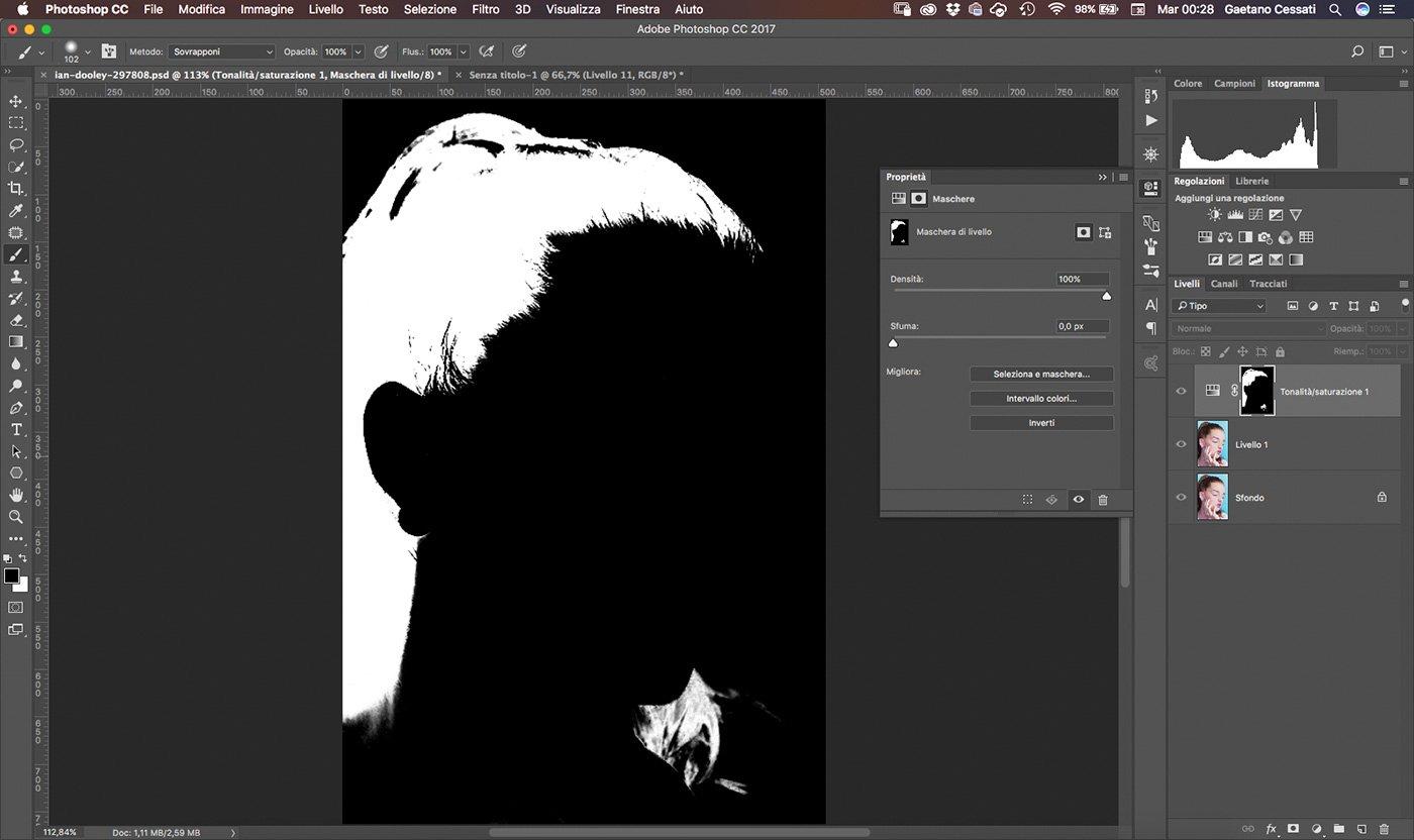 9 Come cambiare colore ai capelli con Photoshop - rifinire la selezione