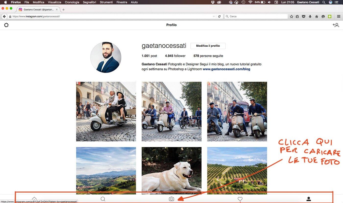 Come Caricare Le Tue Fotografie Su Instagram Direttamente Da Pc