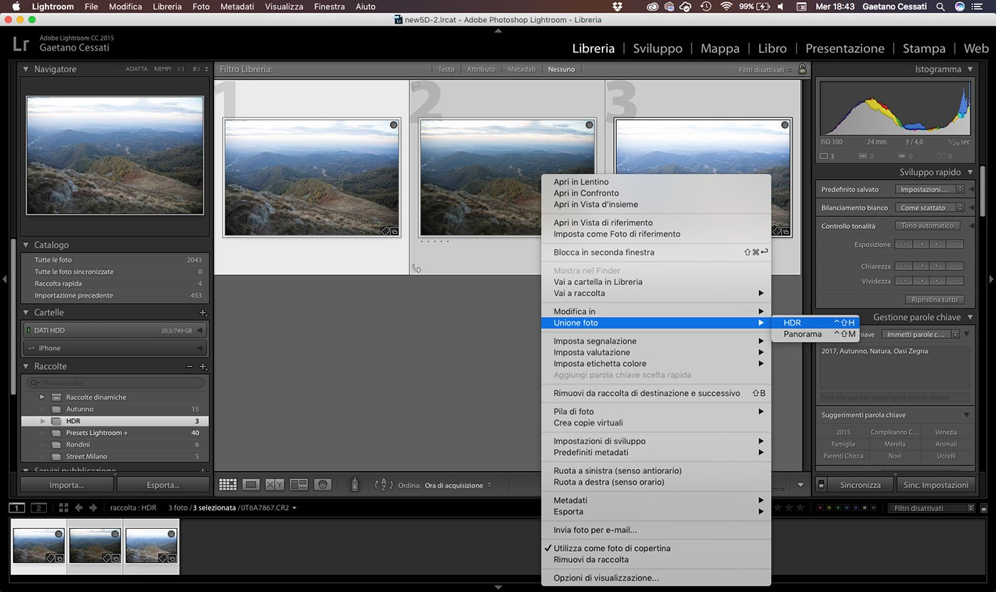 2 - come sviluppare una foto HDR con Lightroom