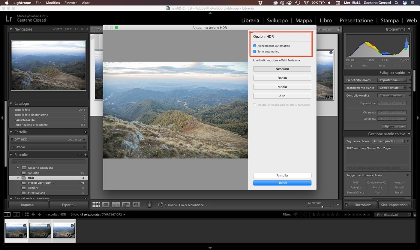 3 - come sviluppare una foto HDR con Lightroom