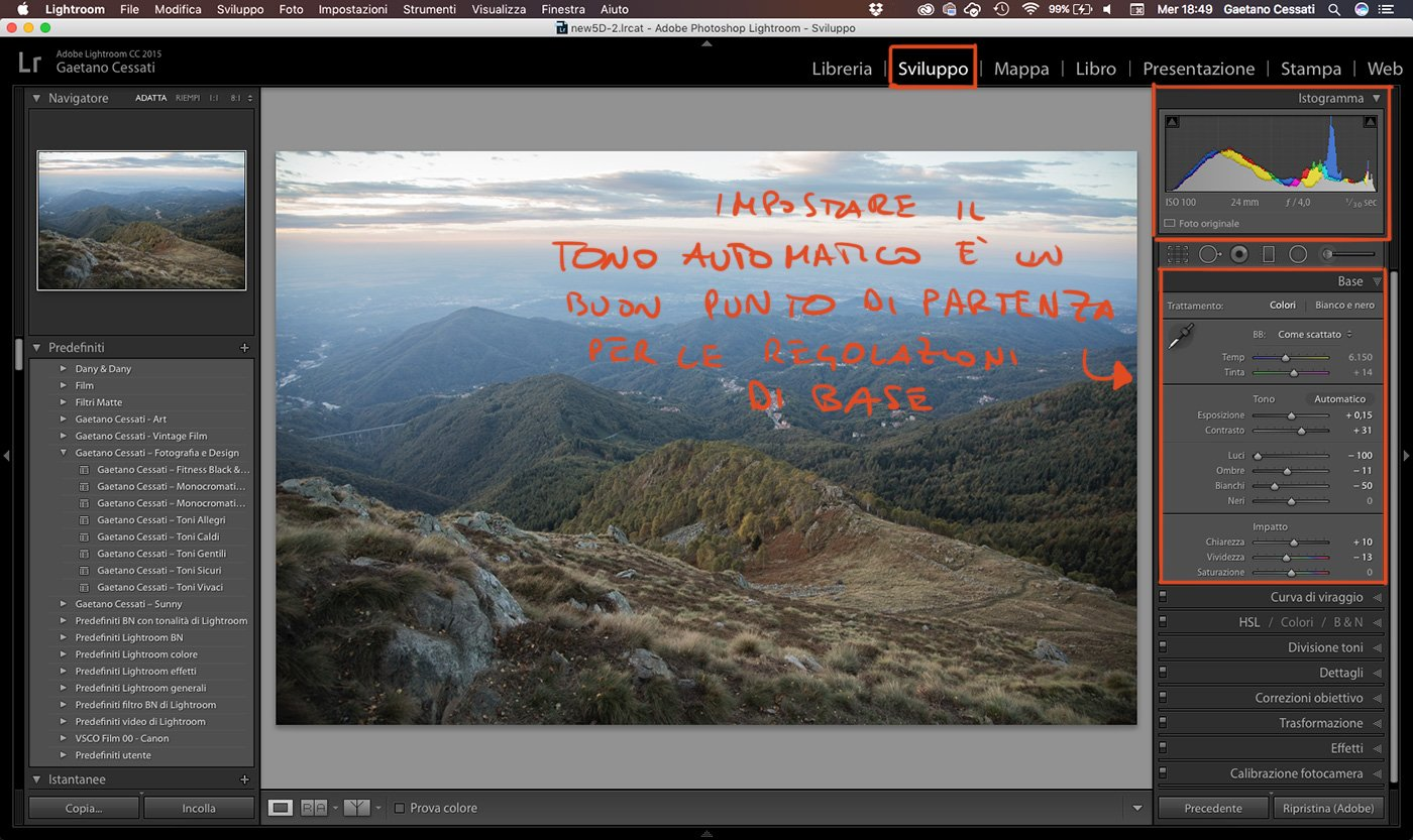 5 - come sviluppare una foto HDR con Lightroom