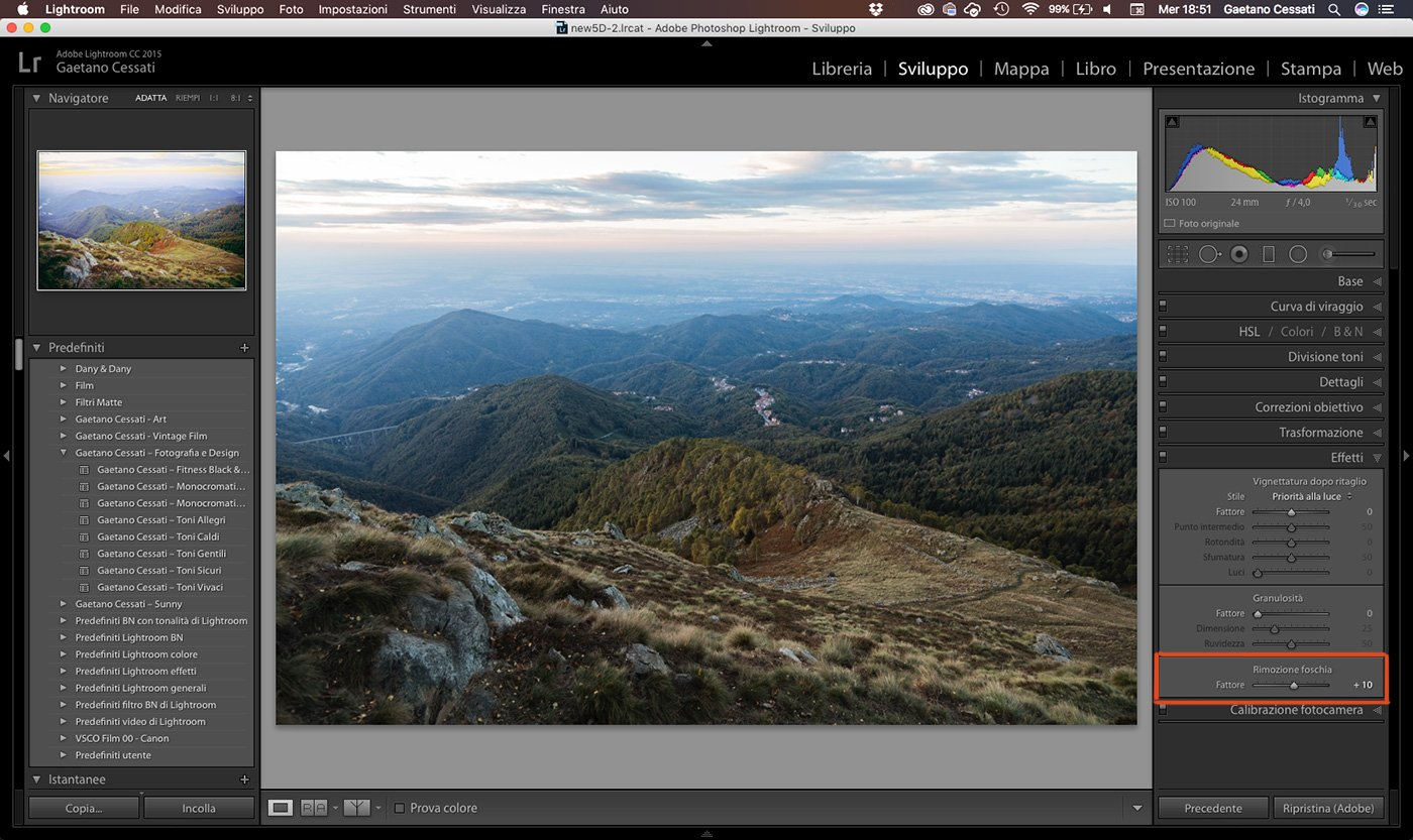 8 - come sviluppare una foto HDR con Lightroom