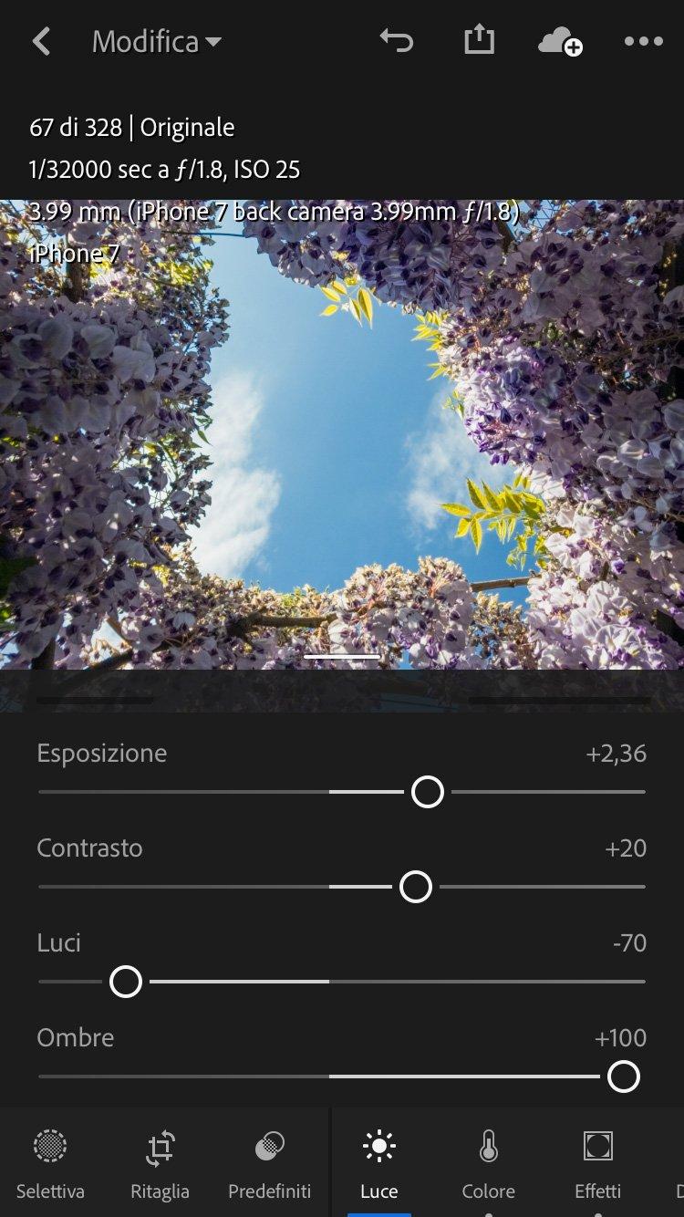 sviluppare-una-fotografia-hdr-Lightroom-Mobile-esposizione 0