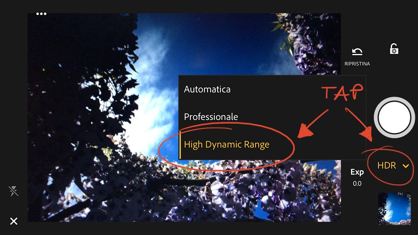 sviluppare-una-fotografia-hdr-Lightroom-Mobile-selezione-HDR